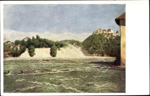 Künstler Ak Schaffhausen am Rhein Schweiz, Rheinfall, Schloss