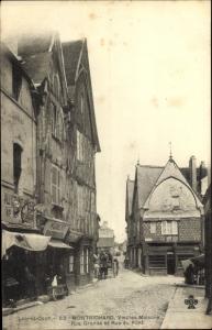 Ak Montrichard Loir et Cher, Vieilles Maisons Rue Grande et Rue du Pont