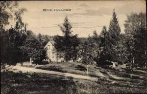 Ak Källvik Loftahammar Schweden, Haus am Waldrand