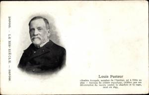 Ak Louis Pasteur, Chemiker, Gegenmittel gegen Tollwut, Impfung