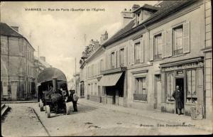 Ak Viarmes Val-d´Oise, Rue de Paris Quartier de l´Église, Épicerie