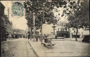 Ak Colombes Hauts de Seine, Place de la Mairie
