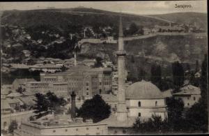 Ak Sarajevo Bosnien Herzegowina, Panorama, Moschee, Festung