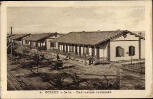 Ak Guercif Marokko, La Gare, Habitations Ouvrieres