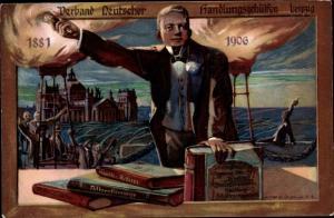 Künstler Ak Verband Deutscher Handlungsgehülfen Leiptig, 1881-1906