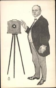 Künstler Ak Frankfurter Bühnenkünstler in der Karikatur, Hermann Steffens, Fotograf, Fotoapparat