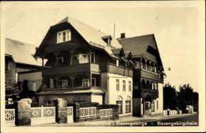 Ak Karpacz Krummhübel Riesengebirge Schlesien, Riesengebirgsheim