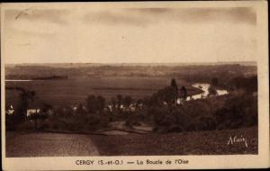 Ak Cergy Val d´Oise, La Boucle de l´Oise