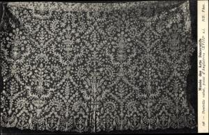 Ak Musée des Arts Decoratifs, Dentelle rabat, point d'Angleterre, Spitze