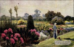 Künstler Ak Hest, Reginald, Brockenhurst Hampshire England, A Hampshire Garden