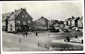Ak Noordwijk aan Zee Südholland, Pr. Bernardstraat met Lido Bioscoop