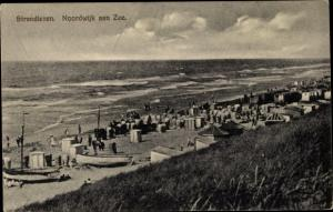 Ak Noordwijk aan Zee Südholland, Strandleven