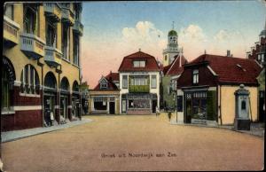 Ak Noordwijk aan Zee Südholland, Banketbakkerij J. H. van der Werf, Lunchroom