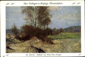 Künstler Ak Strützel, Otto, Im Isartal, Velhagen und Klasings Monatshefte