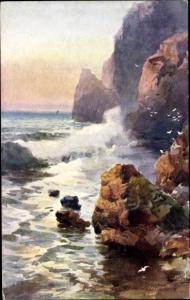Künstler Ak Wimbush, H., Cornish Cliffs, Felsküste