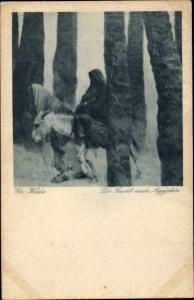 Künstler Ak Wilda, Charles, Die Flucht nach Ägypten, Esel
