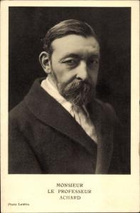 Ak Mediziner Charles Achard, Portrait