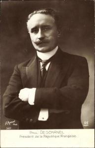 Ak Paul Deschanel, President de la Republique Francaise