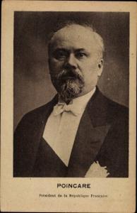 Ak Raymond Poincare, President de la Republique Francaise