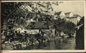 Ak Dachau in Oberbayern, Ortspartie