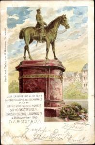 Künstler Litho Darmstadt in Hessen, Enthüllung des Denkmals Großherzog Ludwig IV 1898