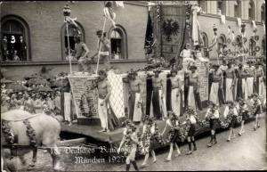 Ak München Bayern, 18. Deutsches Bundesschießen 1927, Festzug