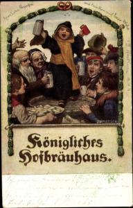 Künstler Ak Zumbusch, Ludwig von, München, Königliches Hofbräuhaus, Münchner Kindl