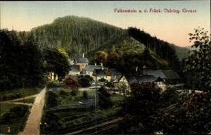Ak Falkenstein Ludwigsstadt in Oberfranken, Teilansicht
