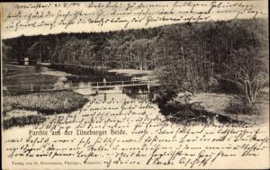 Ak Lüneburger Heide, Partie aus der Lüneburger Heide, Brücke