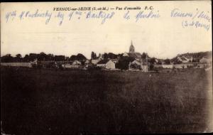 Ak Vernou sur Seine Seine et Marne, Vue d´Ensemble