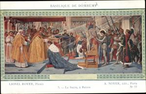 Künstler Ak Royer, Lionel, Jeanne d'Arc, Le Sacre a Reims, Basilique de Domrémy