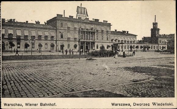 Ak Warszawa Warschau Polen, Wiener Bahnhof, Dworzec Wiedenski 0