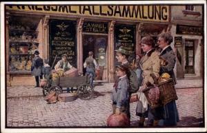 Künstler Ak Moser, Richard, Stilles Heldentum, Kriegsmetallsammlung, Österreichisches Rotes Kreuz