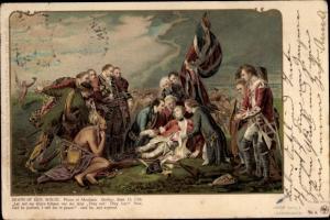 Litho Death of Gen. Wolfe, Palais of Abraham, Quebec, Sept. 13 1759
