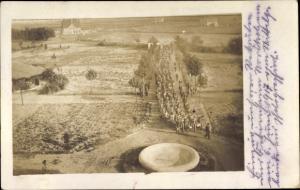 Foto Ak Marschierende Rekruten, Rekrutendepot der Luftabwehrabteilung, Soldaten, I. WK