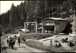 Ak Oberhof im Thüringer Wald, Sesselliftstation, Rennsteigschanze, Kanzlersgrund