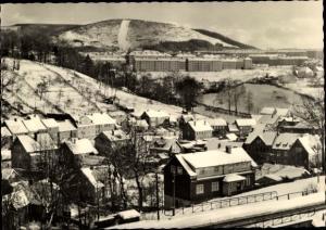 Ak Suhl in Thüringen, Gesamtansicht, Winterpartie