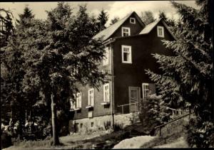 Ak Schnett Masserberg in Thüringen, Waldcafe