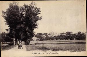 Ak Chaumes en Brie Seine et Marne, Vue d´Ensemble