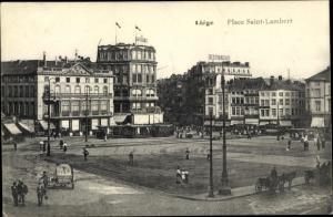Ak Liège Lüttich Wallonien, Place Saint Lambert