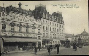 Ak Liège Lüttich Wallonien, Places Verte et St. Lambert, Le Phare et le Grand Hotel