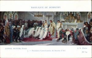 Künstler Ak Royer, Lionel, Jeanne d'Arc, Premiere Communion, Basilique de Domrémy