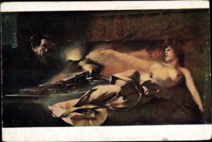 Künstler Ak Zmurko, La vision de Faust, Fauts Erscheinungm, nackte Frau