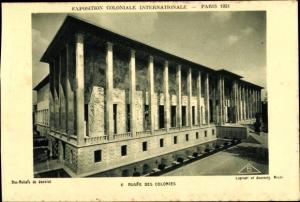 Ak Paris, Exposition Coloniale Internationale 1931, Musée des Colonies