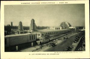 Ak Paris, Exposition Coloniale Internationale 1931, Cité Internationale des Informations