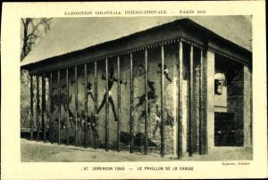 Ak Paris, Exposition Coloniale Internationale 1931, Cameroun Togo, Pavillon de la Chasse