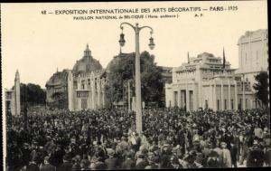 Ak Paris, Exposition Internationale des Arts Decoratifs 1925, Pavillon National de Belgique