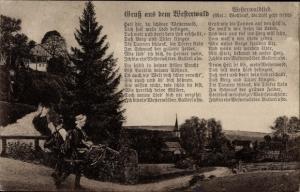 Lied Ak Westerwaldlied, Melodie Wohlauf, Wanderer zum Ort