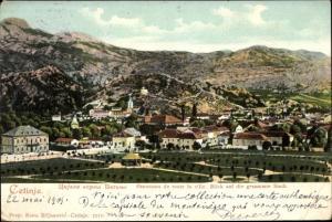 Ak Цетиње Cetinje Montenegro, Blick auf den Ort