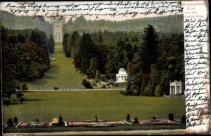 Ak Bad Wilhelmshöhe Kassel in Hessen, Blick von der Schlossterrasse